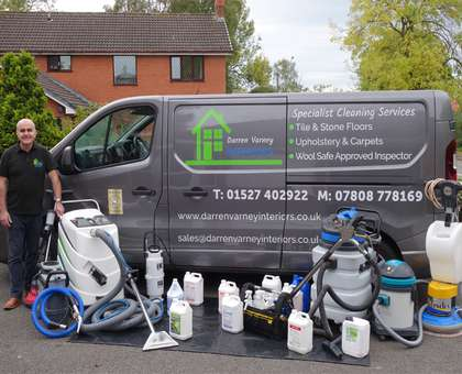 Darren's van and his carpet cleaning equipment