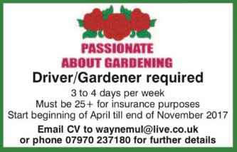 Gardeners and Gardening in Bromsgrove